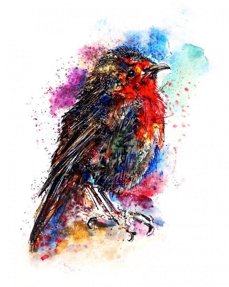 emily tan animal paintings rainbow
