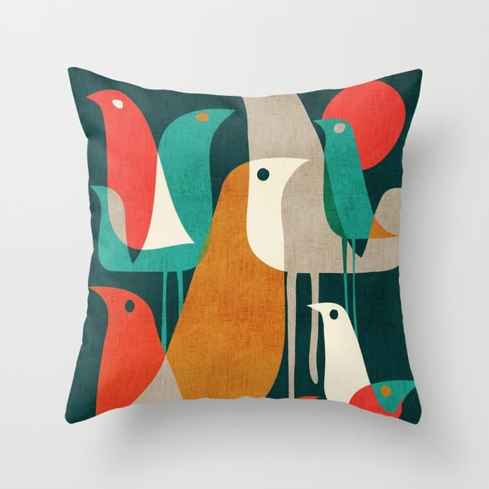 Animal Gifts Bird Throw Pillow
