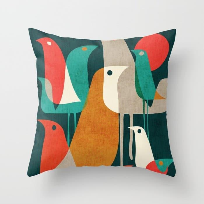 Animal Gifts Bird Throw Pillow