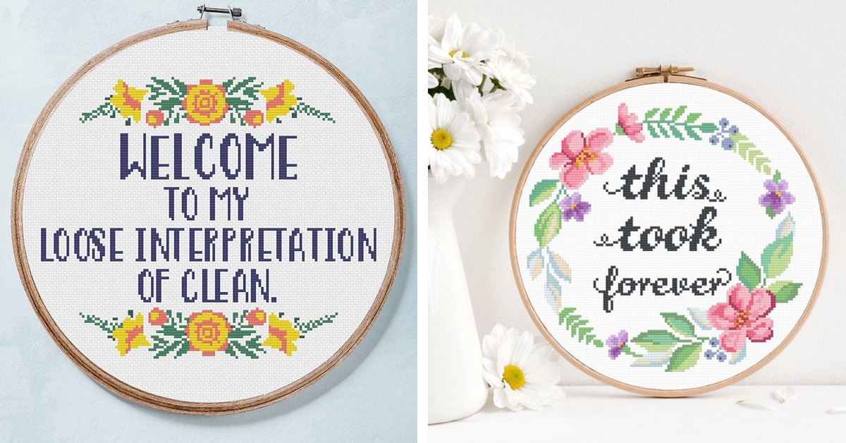 25 Pieces Of Funny Cross Stitch That Will Leave You Laughing