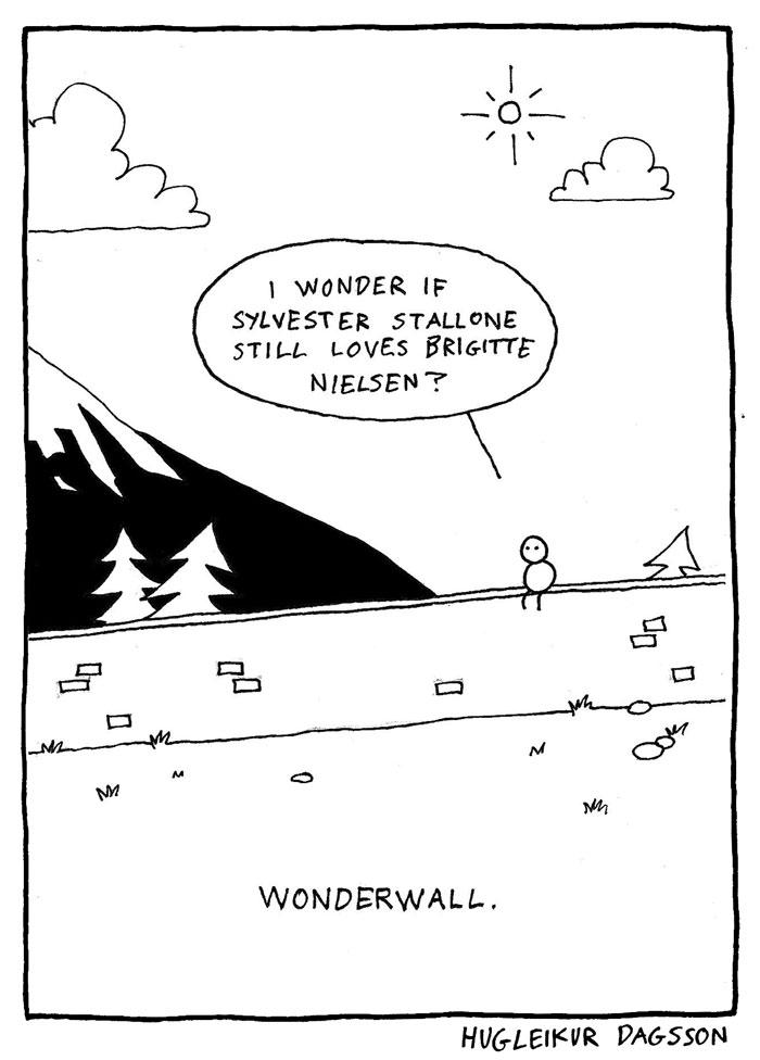 Hugleikur Dagsson song lyric comic