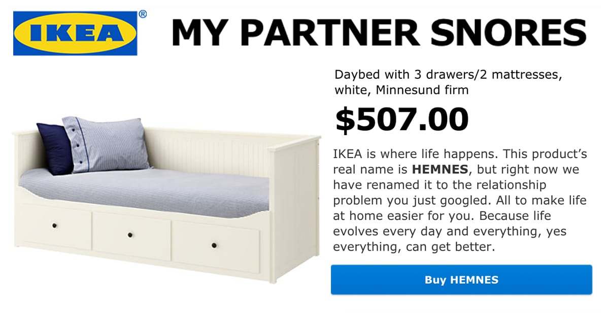 Retail Therapy has IKEA Renaming Its Products After Relationship Woes