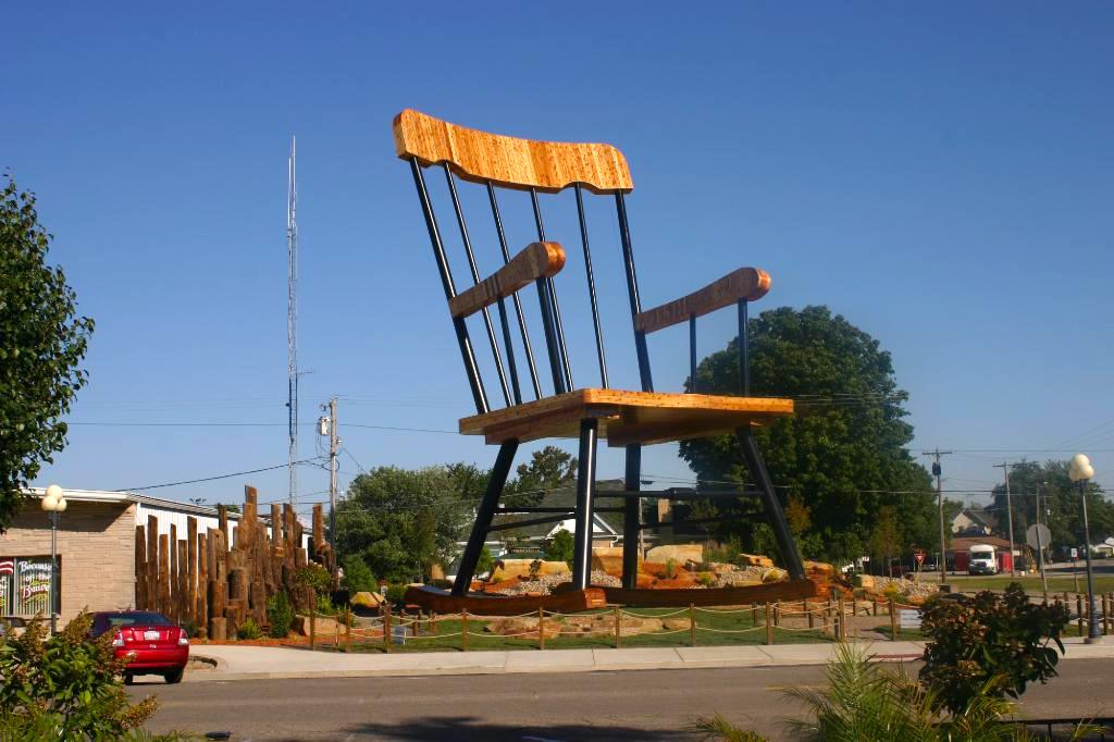 Giant Sculptures in Casey, Illinoise