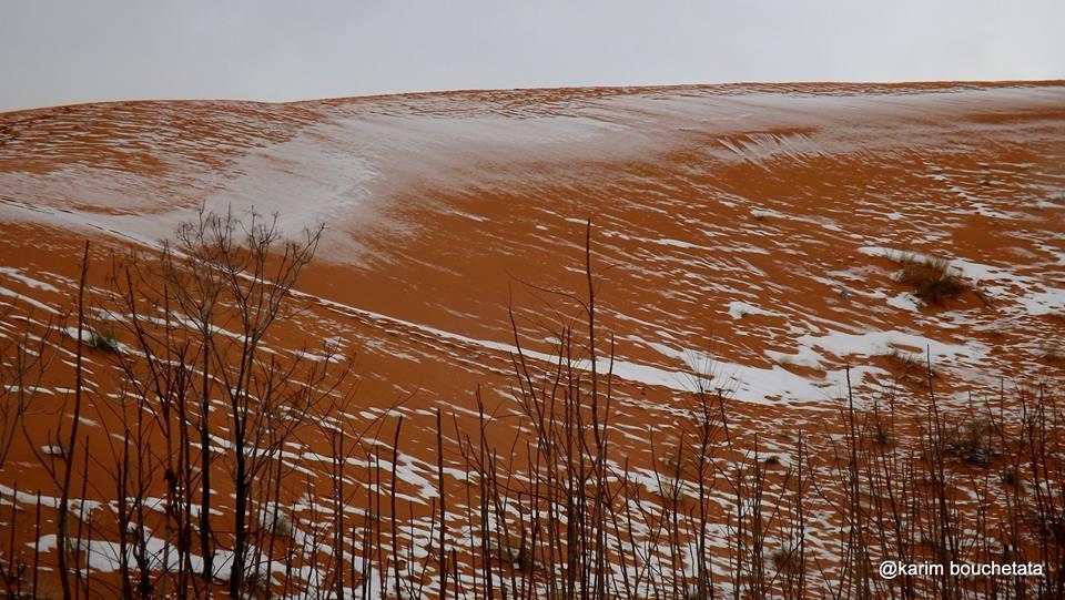 rare snow sahara desert karim bouchetata