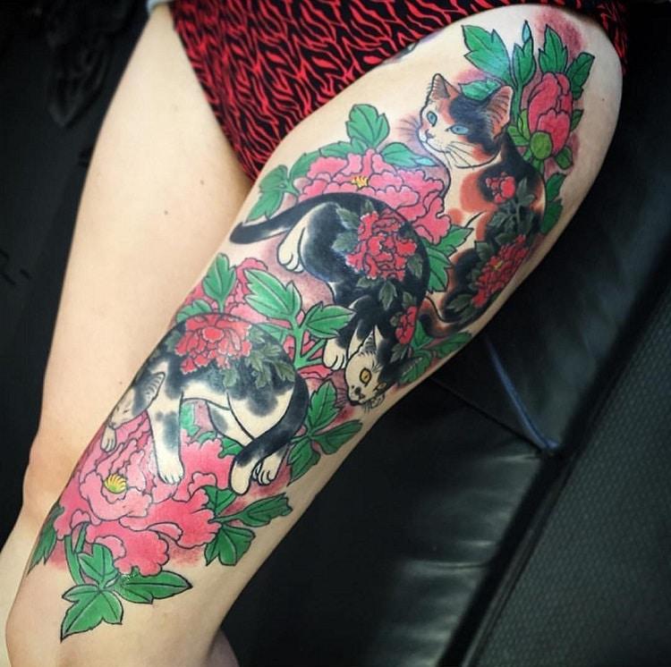 Kazuaki Horitomo monmon cat tattoo