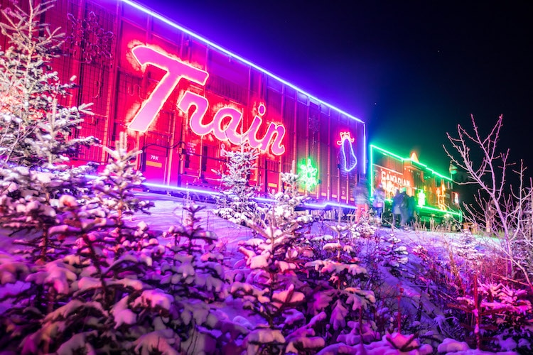 Neil Zeller Holiday Train Christmas Lights