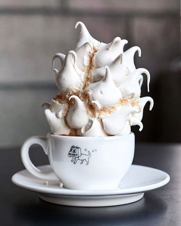 Taking Out meringue coffee