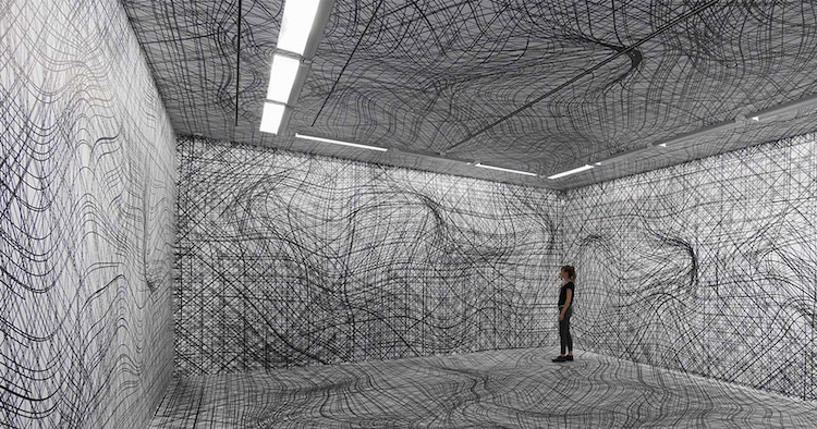 peter kogler room installation illusion