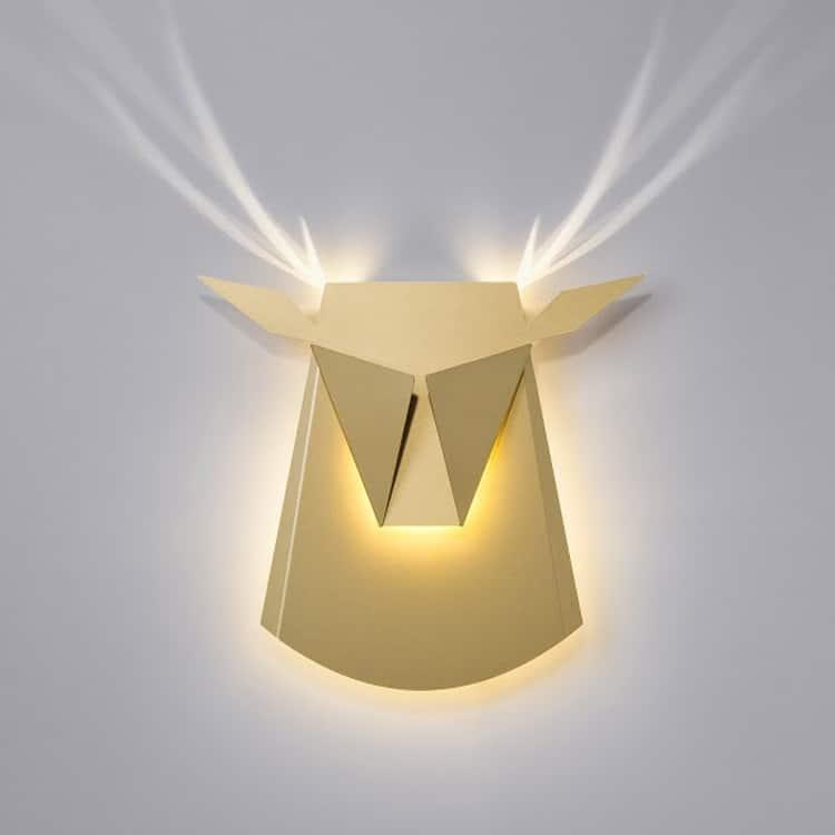 Deer Head LED Lighting Fixture by Popup Lighting | $290.00Read more on My Modern Met