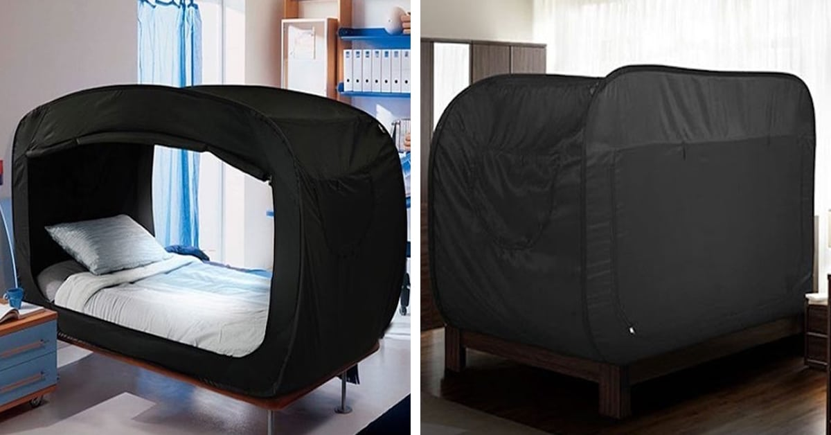 & Bed Tent by Privacy Pop Helps You Sleep Soundly When Youu0027re Anxious