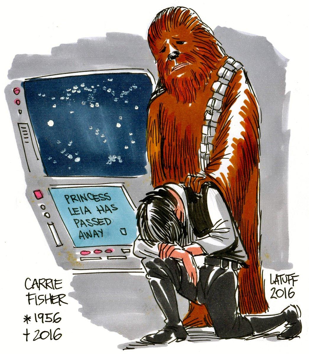 Carlos Latuff RIP Carrie Fisher