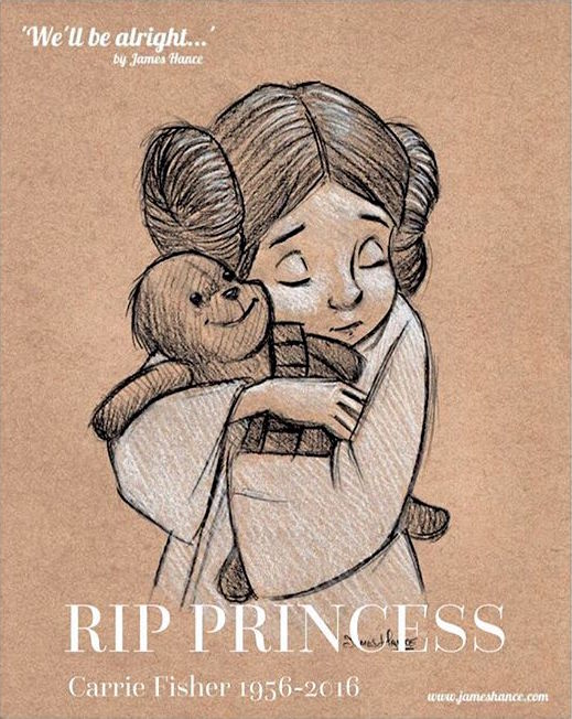 james hance carrie fisher rip