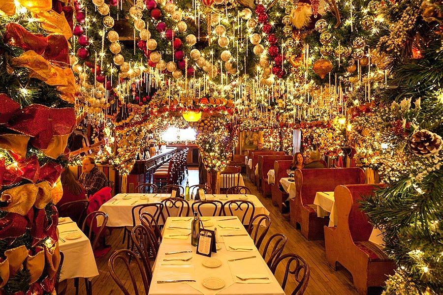 Rolf's German Restaurant Christmas decor Christmas decorations festive holiday
