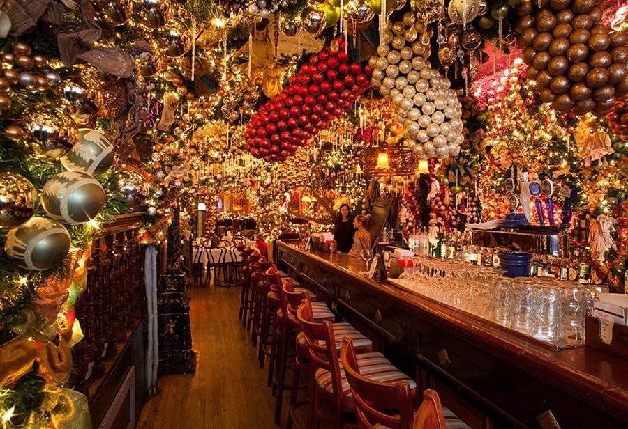 Rolf's German Restaurant Christmas decor Christmas decorations festive holiday New York