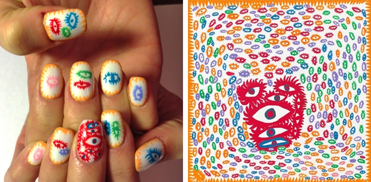 Nail art history recreates famous paintings as fabulous manicures nail art history by susi kenna prinsesfo Gallery