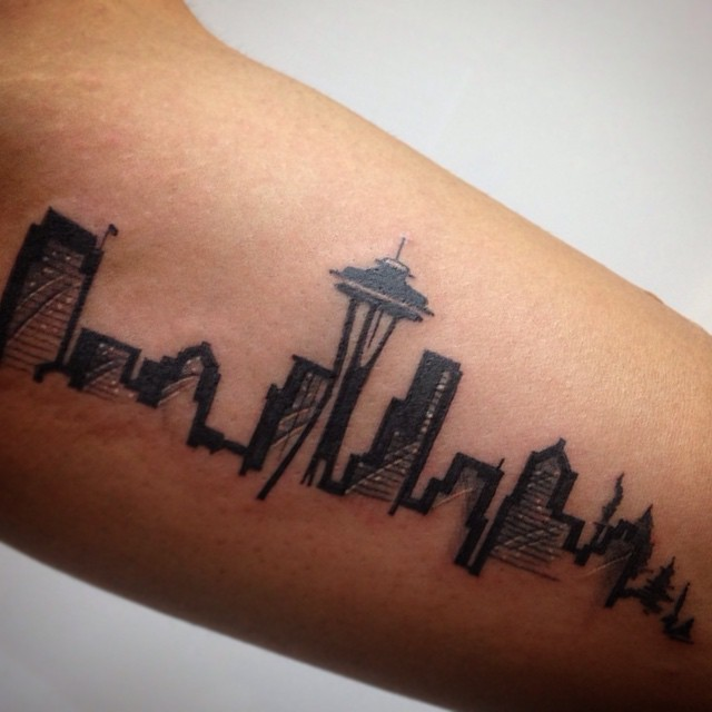beautiful tattoos celebrate landmarks and cityscapes from around the world. Black Bedroom Furniture Sets. Home Design Ideas