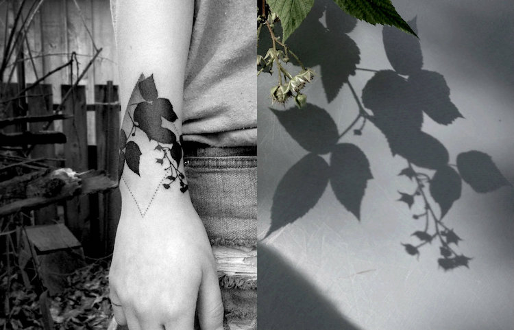 tedd hucks plant shadow tattoos