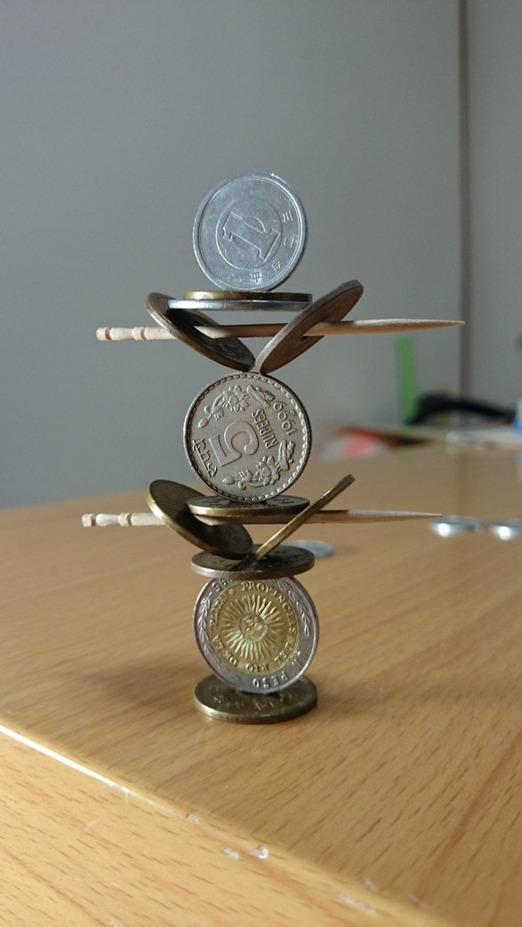 coin stacking by Tanu