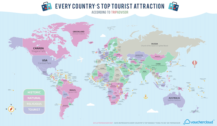 tripadvisor top attractions map