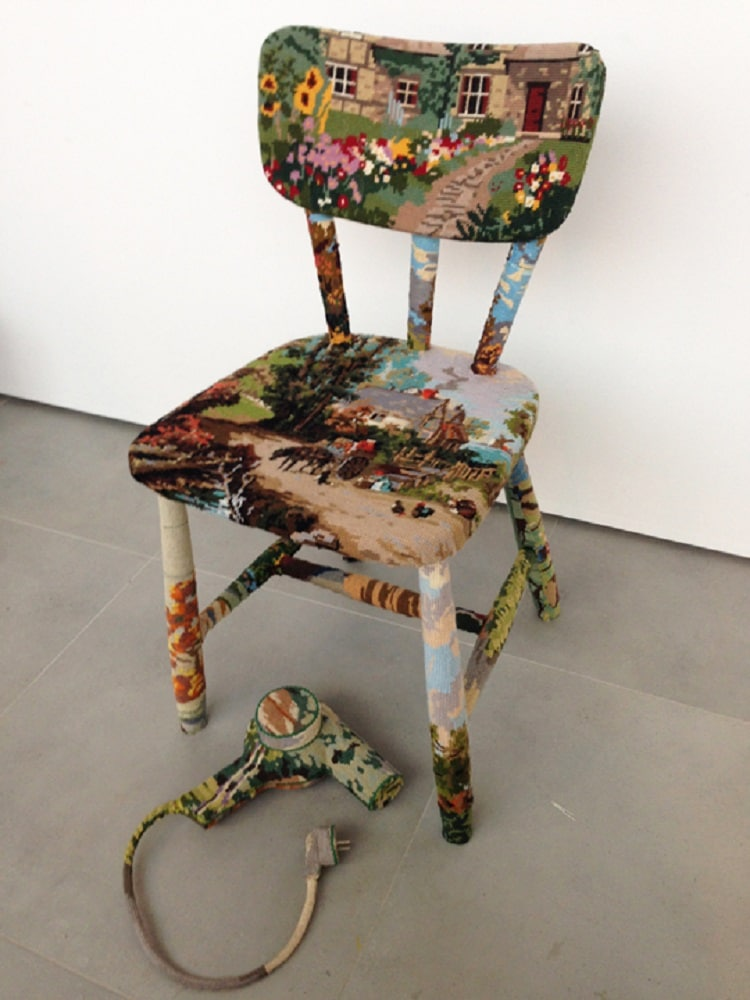 Ulla Stina Wikander cross stitch sculptures