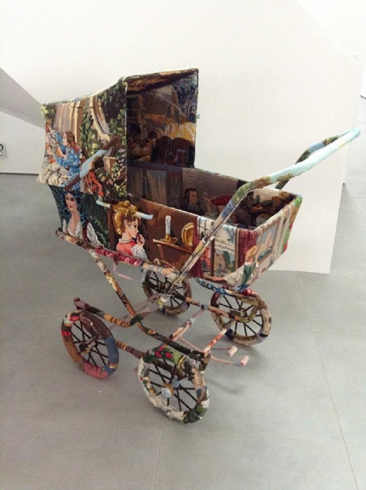 Ulla Stina Wikander cross stitch sculptures