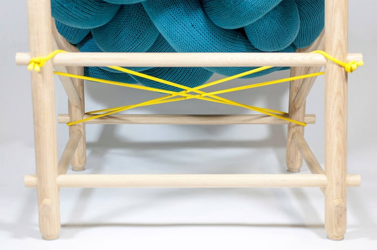 veega tankun chunky knit chair