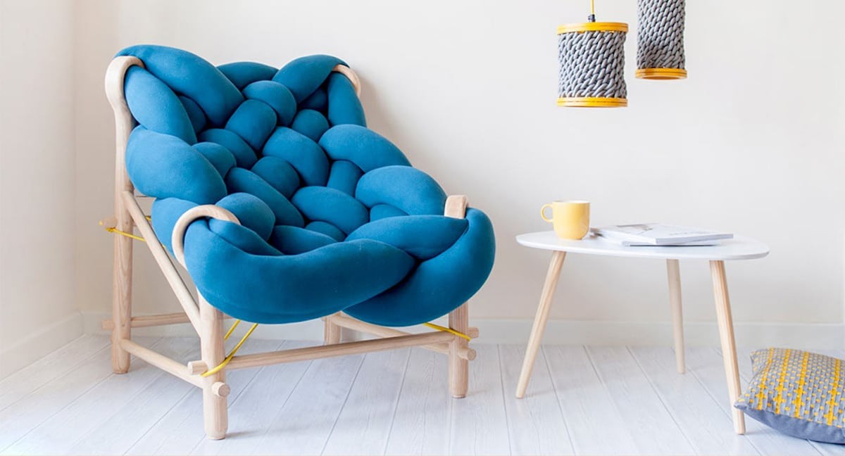 Chunky Knit Chair Is A Cozy Contemporary Seat By Veega Tankun