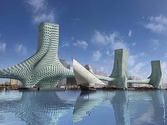 I Love Modern Architecture The Three Graces Dubai