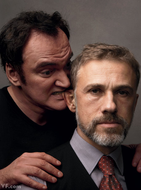 Quentin Tarantino with Christoph Waltz One film together: Inglourious Basterds (2009).