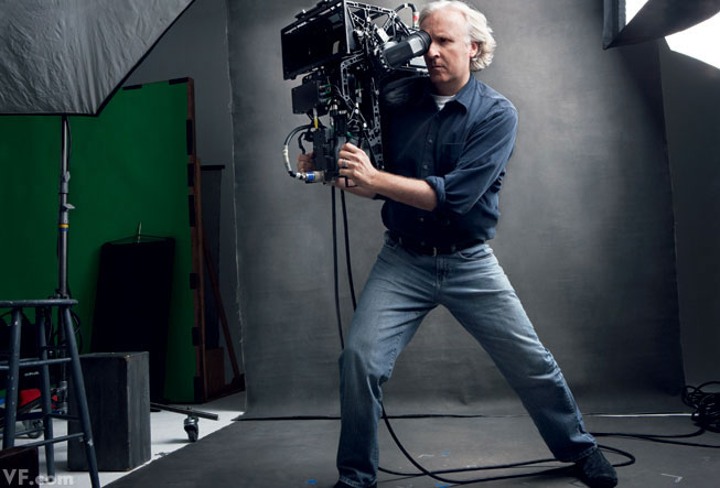 James Cameron with His Fusion 3-D camera One Film Together: Avatar (2009)
