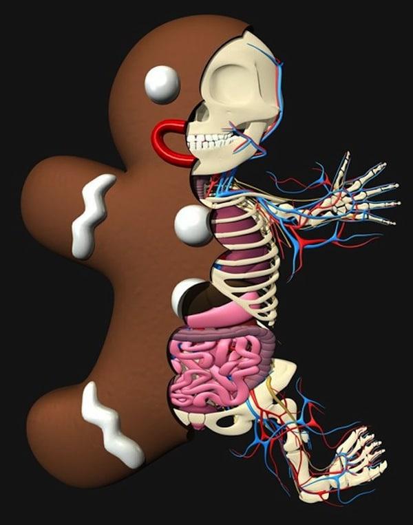 Gingerbread Man by Jason Freeny.