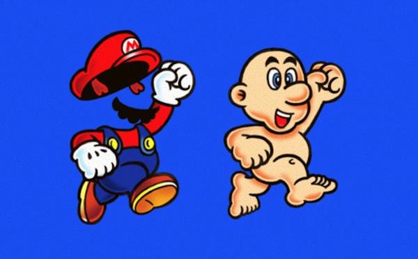 Naked Mario via Kotaku