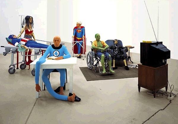 Decrepit Superheroes by Gilles Barbier.