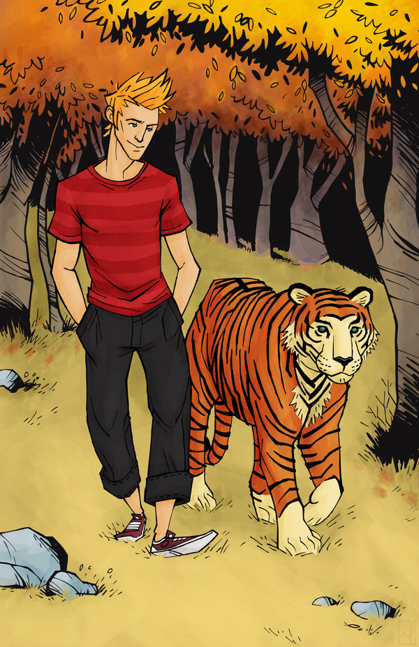 Older Calvin and Hobbes by ~mscorley
