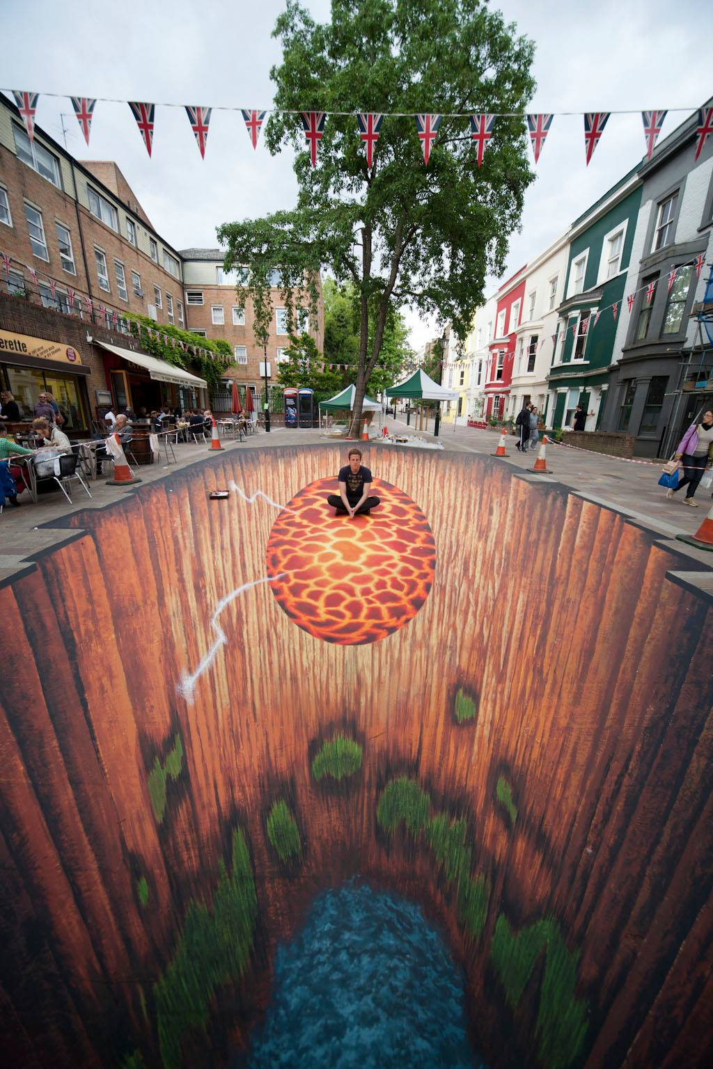 3d art edgar mueller anamorphic art chalk art