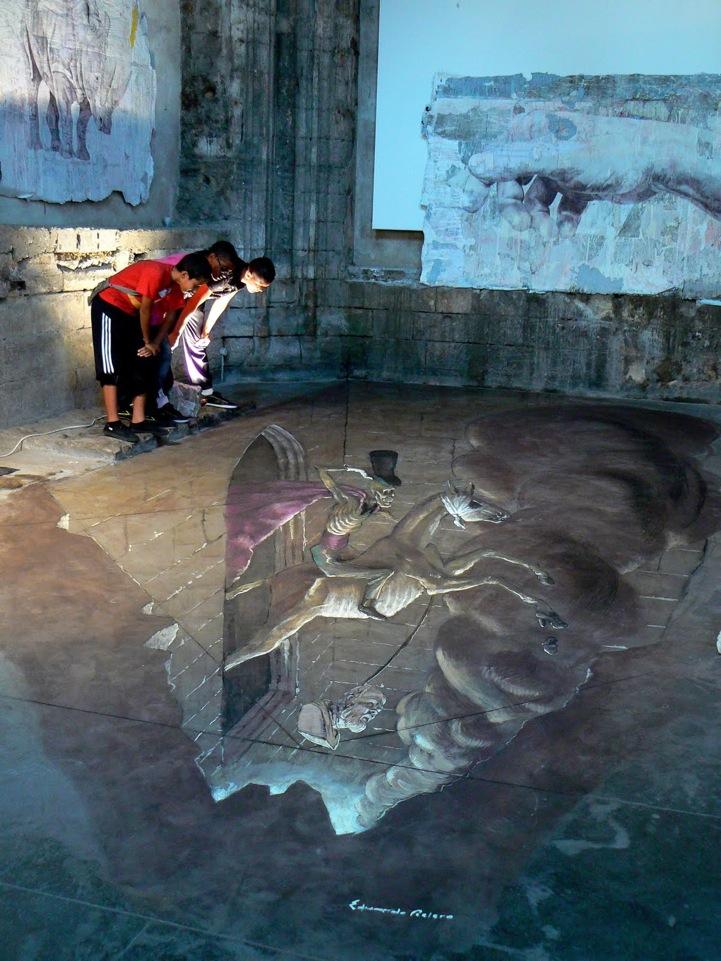 3d art eduardo rolero anamorphic art