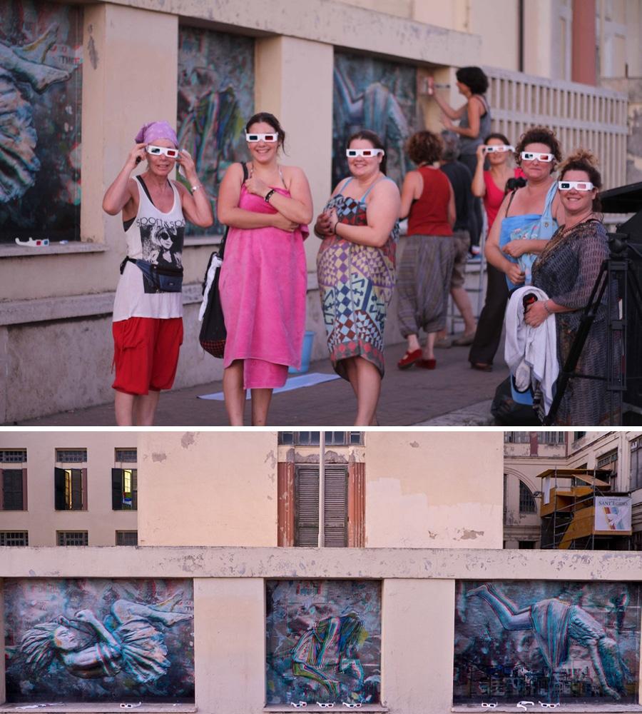 alice pasquini mural underlayer 3d art