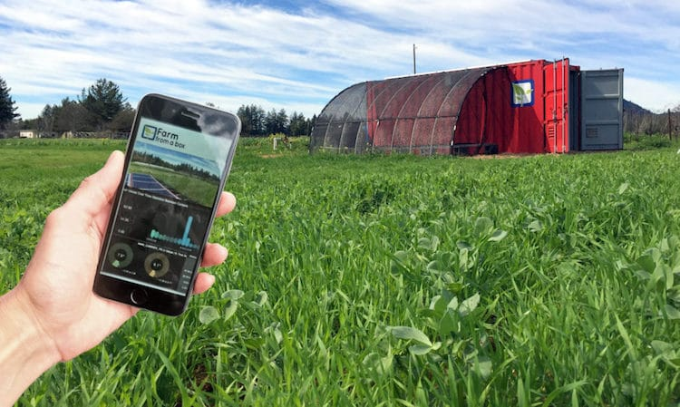solar power sustainable food farm monitor app