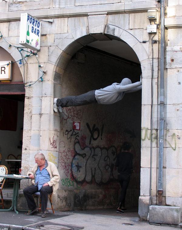 Mark Jenkins public sculpture - 15 Playful Street Artists