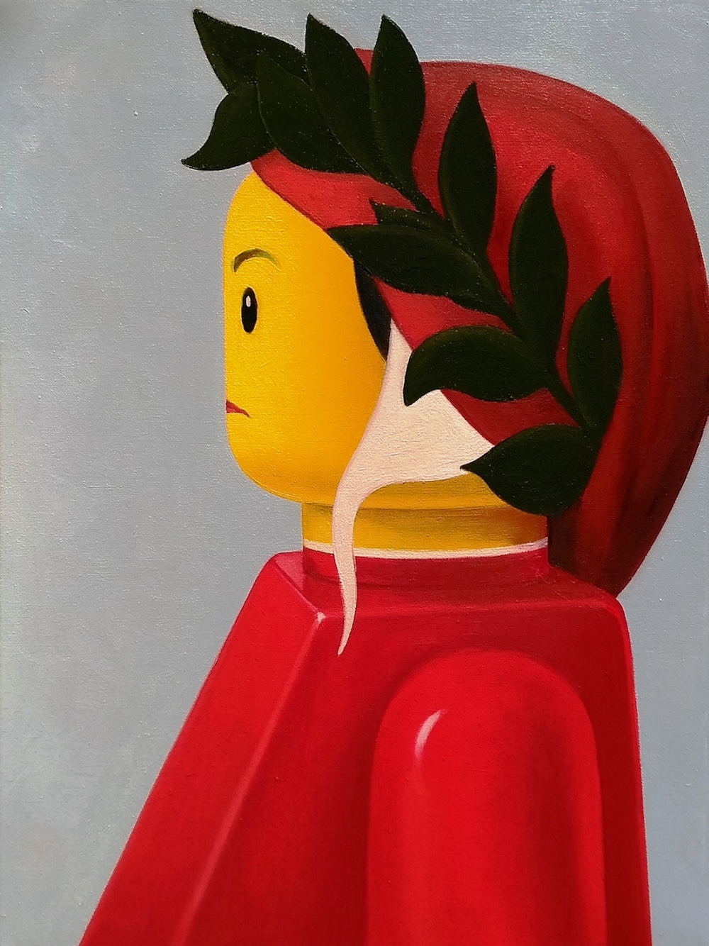 LEGO art painting stefano bolcato botticelli dante