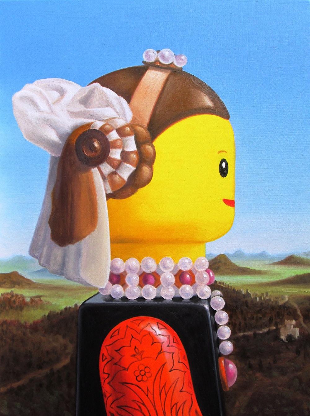 Piero della Francesca LEGO art painting stefano bolcato