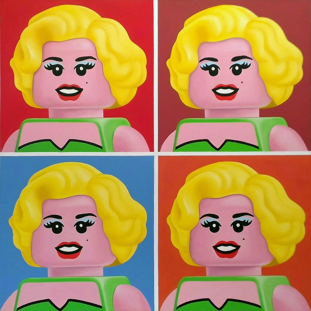 Andy Warhol LEGO art painting stefano bolcato