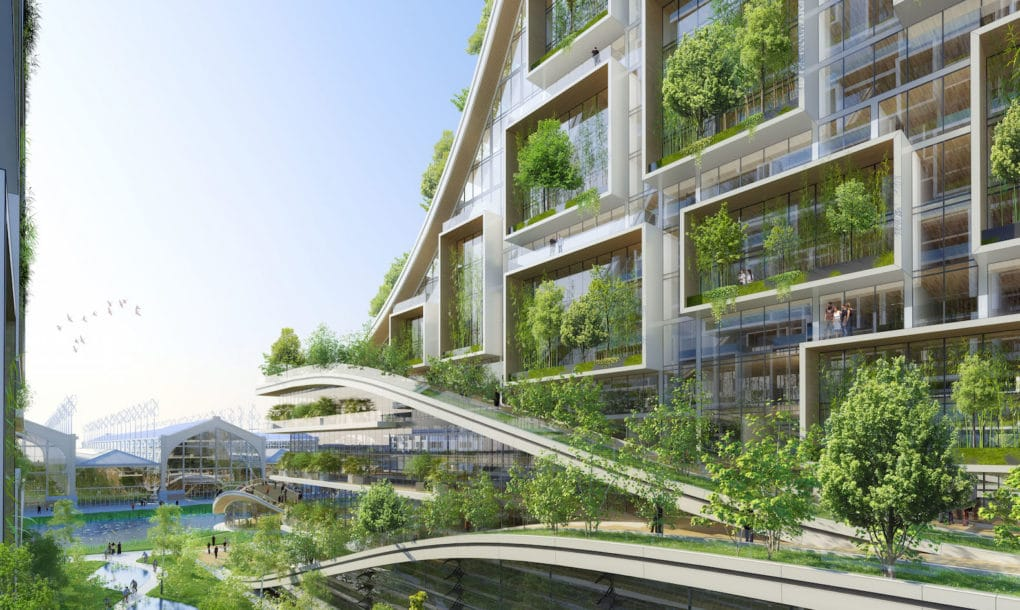Crazy Conceptual Design For Biomimetic EcoVillage In Belgium - Sustainable architecture design