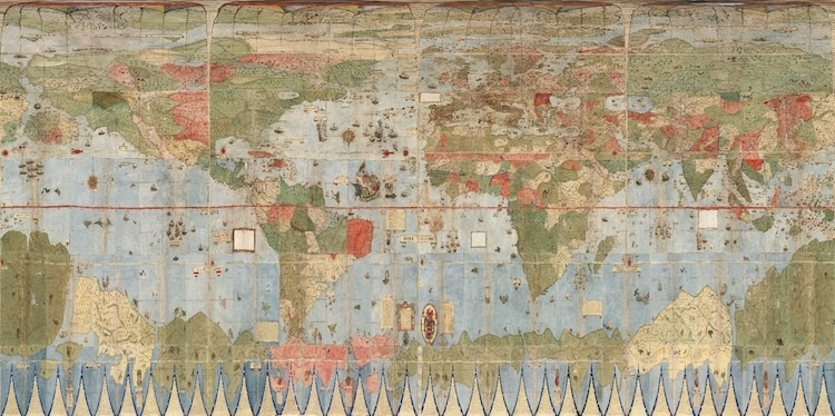16th century historical map by urbano monte digitally stitched urbano monte historical world map gumiabroncs Choice Image