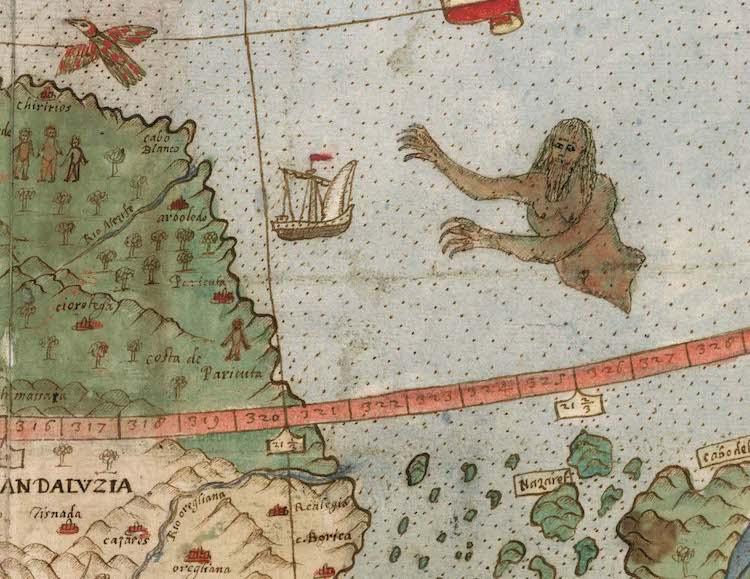 Urbano Monte 16th century map