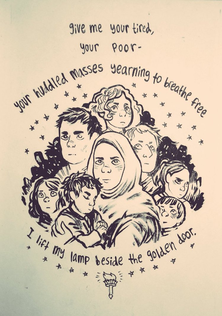 Artists Respond to Refugee Ban with Compassionate Illustrations
