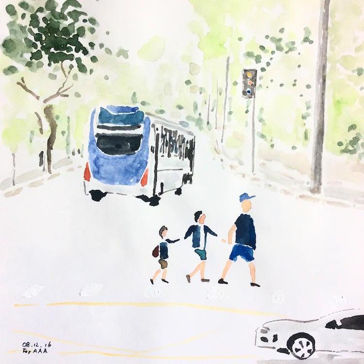 Korean Grandfather Chan Jae Lee Drawings for my Grandchildren Instagram Inspiring Stories