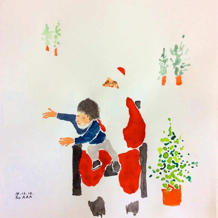 Korean Grandfather Chan Jae Lee Drawings for my Grandchildren Instagram Inspiring Stories