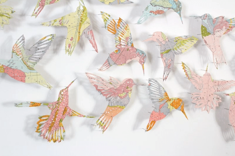 paper birds maps claire brewster
