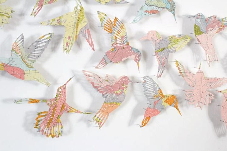 paper birds maps claire brewster